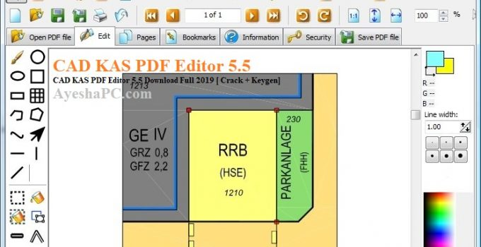 CAD KAS PDF Editor 5.5 Download Full 2019 [ Crack + Keygen]