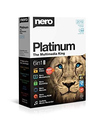 Nero Platinum 2019 Crack 20.0.07200 With Key Free Download